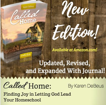 I beyond excited to finally get this new edition of my best-seller, Called Home: Finding Joy in Letting God Lead Your Homeschool released! Many of you know I started writing ebooks way back when I thought no one would actually read them. ;) Fast forward several years, and not only were people reading them, but two…