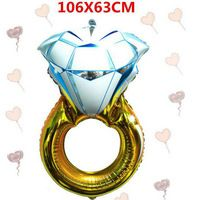 Свадьба украшения питания 43 дюймов свадебные баллоны алюминиевая фольга шар для свадьбы ну вечеринку обручальное кольцо шар 2 шт./лот