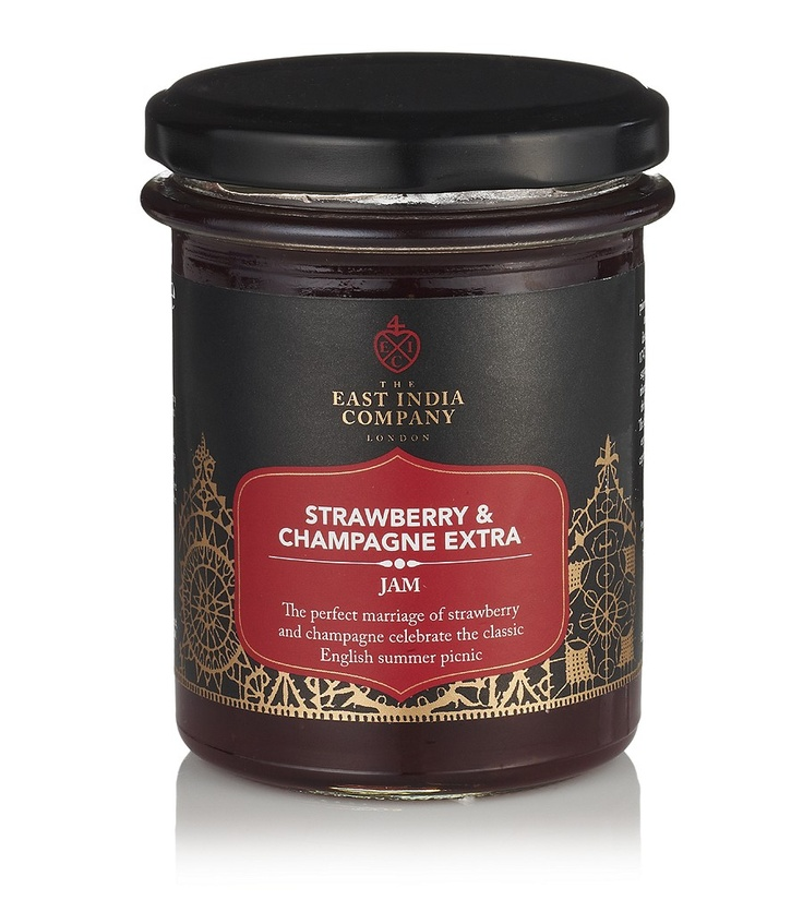 THE EAST INDIA COMPANY  Strawberry and Champagne Extra Jam: Jam 11, Extra Jam, Company Strawberry, East India, India Company, Strawberries, Products