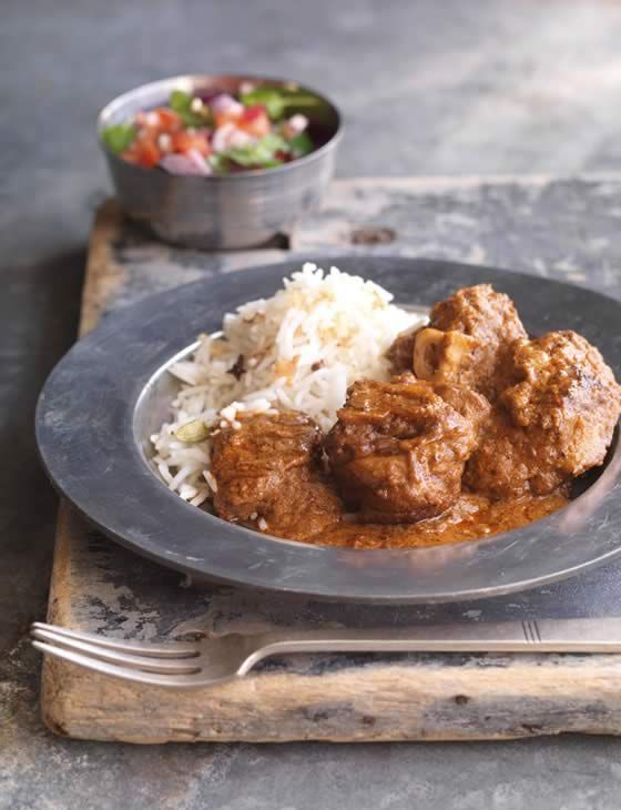 Lamb rogan josh | This recipe from Anjum Anand is a brilliant gluten free curry. The fragrant spices really compliment the lamb to create the ultimate dish.