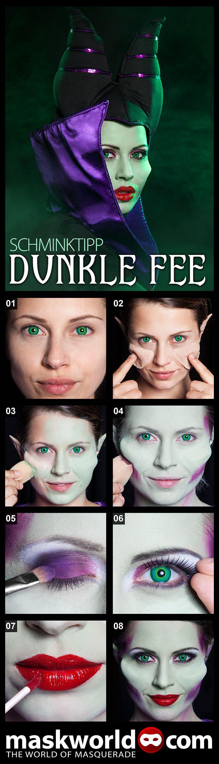 Schminktipp Dunkle Fee - Schmink Dich mit diesem Make-up Tutorial wie Disneys Maleficent!