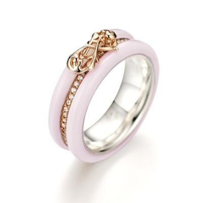 Ceramic Nodo Savoia Ring - J. Estina