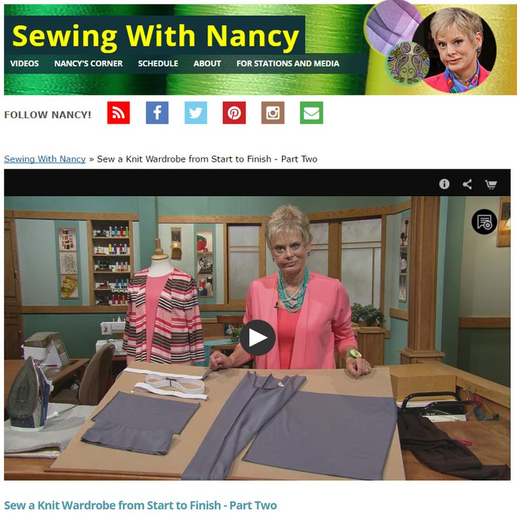 Sew Knit Coordinates- Start to Finish Part Two on Sewing With Nancy