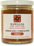 Smoked Spicy / Fumee & Epice   Contains one of Mexico's greatest chiles (jalapenos). Salsa that imparts a sophisticated flavour with a subtle smoke taste of Jack Daniels. Spicy heat with layers of flavour, this salsa will enhance anything from chips, vegetables, baked potatoes, hamburger to white fish. Smoke with a bang.