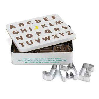 Jamie Oliver's alphabet cookie cutters