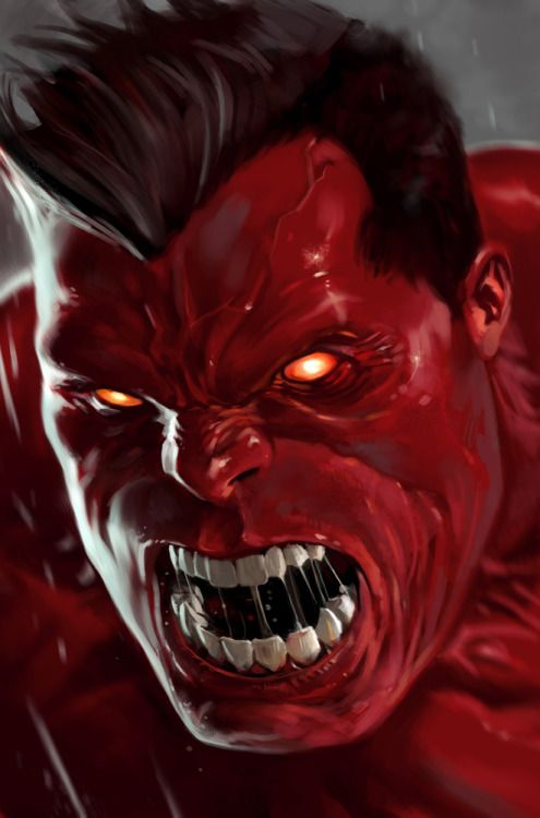 Red Hulk. Viewing the colour red can increase your blood pressure and heart rate.