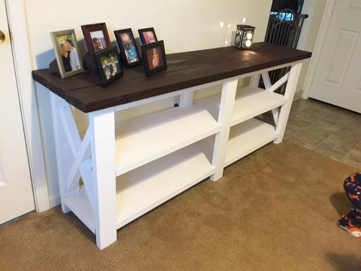 First Furniture Build!!! Farmhouse X console   Do It Yourself Home Projects from Ana White