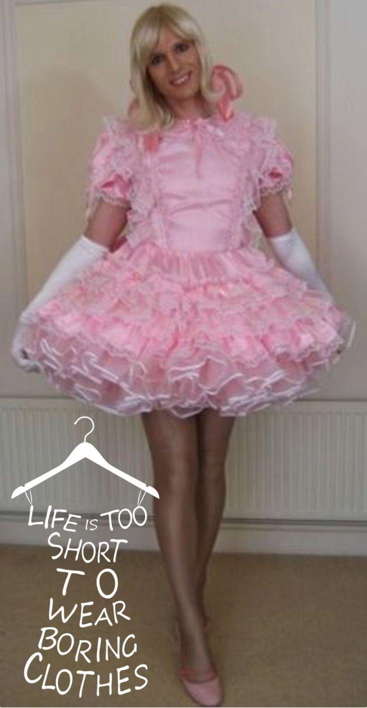 Teen woman in petticoats being ravished self suck