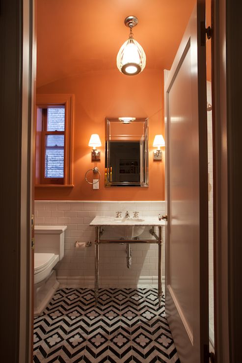 Orange Bathrooms Can Be Beautiful And Here S Proof