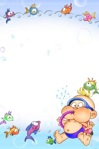 Sea Style Kids Transparent PNG Photo Frame