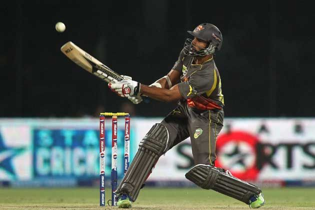Sunrisers Hyderabad captain Shikhar Dhawan scored 71 in his side's win over Kandurata Maroons in the CLT20 Qualifiers on September 17, 2013. (BCCI Image)