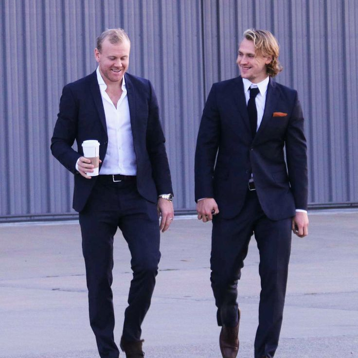 Patric Hornqvist and Carl Hagelin prepare to board the team charter to go visit the White House and President Obama to celebrate the #Pens 2016 Stanley Cup Championship.