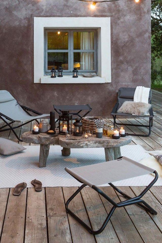 Terrasse Gestalten Mit Lafumaliegen Und Traumhafter Gartenbeleuchtung Terrasse Gestalten Terrasse Inspiration Gartenmobel