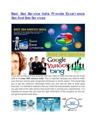 Best seo service india provide excellence seo and smo services