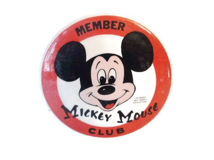 Vintage Original Mickey Mouse Club Member Pin 1960's by EraAntiquesandFinds on Etsy
