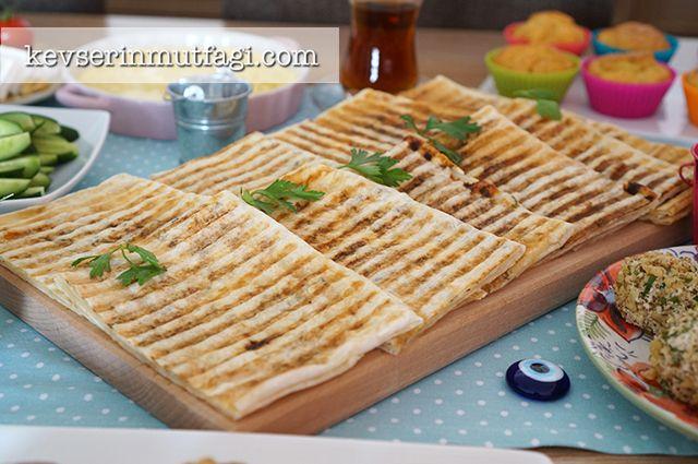 Turkish Pancakes (Gözleme) In Panini Toaster