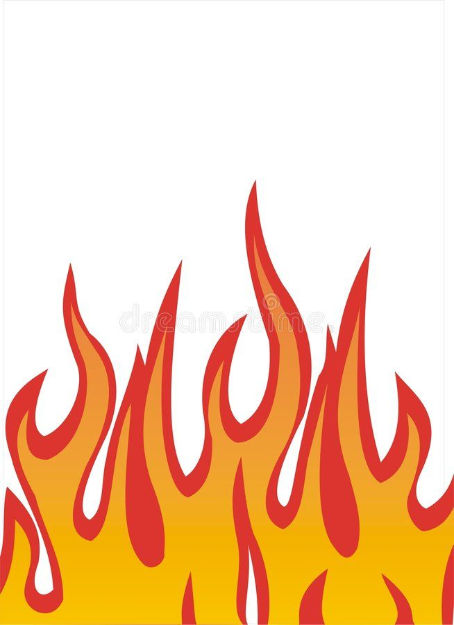 Flames illustration. Vector illustration of fire flames