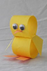 Craft a Construction Paper Chick #Easter