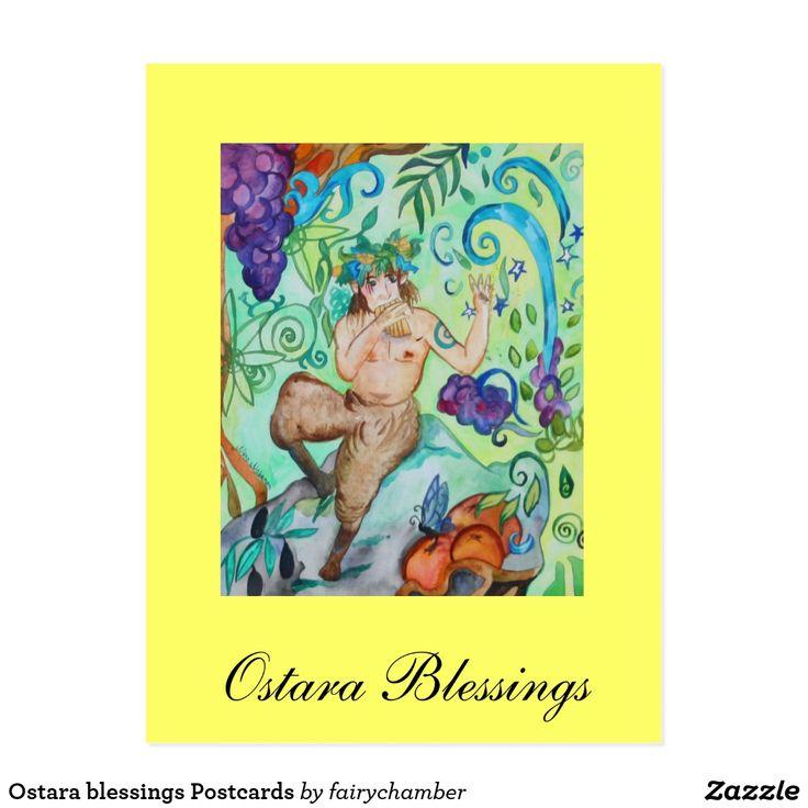 Ostara blessings Postcards
