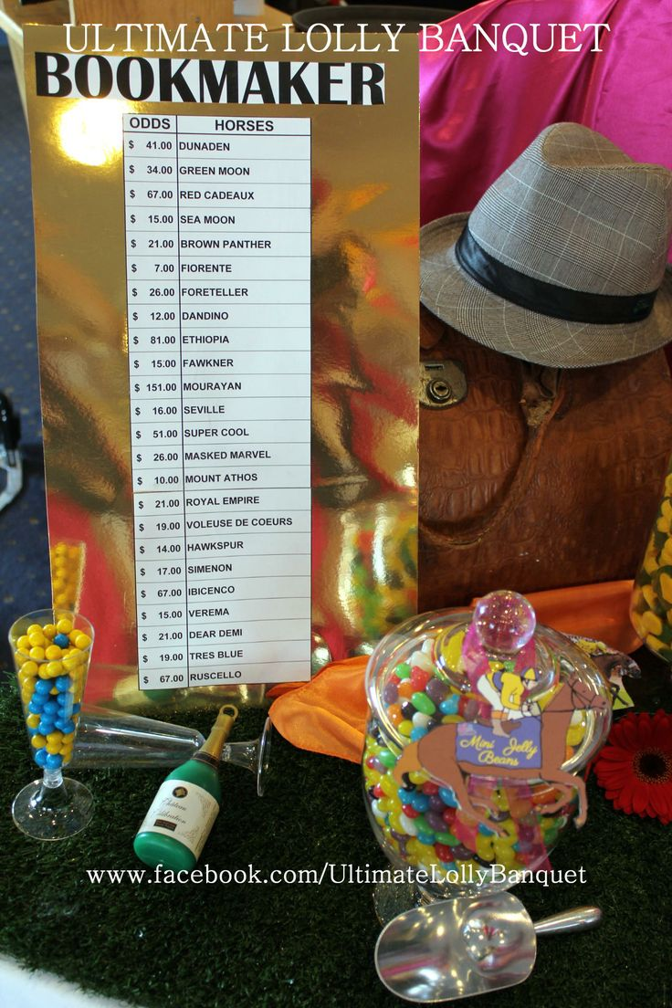 Melbourne Cup decoration ideas by Ultimate Lolly Banquet. www.facebook.com/UltimateLollyBanquet