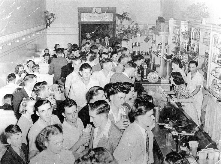 Half-time at the El Gronda ~ 1950