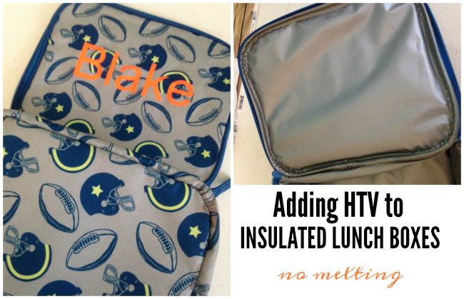 How to Put Heat Transfer Vinyl on Insulated Lunch Boxes and Backpacks