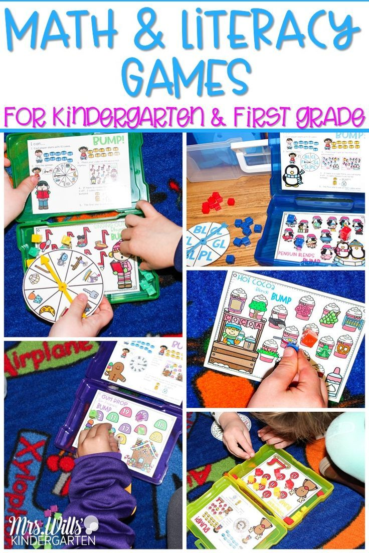 - Fun Math And Literacy Games For Kindergarten And First Grade