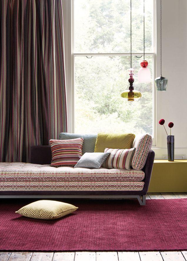 Auch als Teppich macht sich die Farbe ROSA ausgezeichnet.  Fotocredits: ROMO