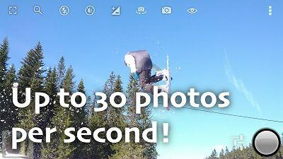 Scattare foto in sequenza a raffica con il telefono Android Come fare 30 foto al secondo per riprendere scene in movimento con l' app Fast Burst Camera