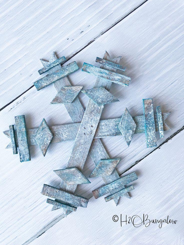 Diy Wooden Snowflake Wooden Snowflakes Diy Holiday Decor Wooden Diy