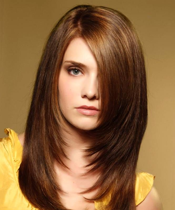 Haircut For Round Face With Long Hair
