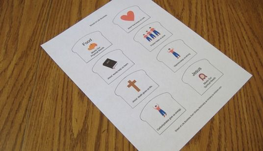 Booklet craft..free printable PDF.  Pix in shape of bread. Jesus is the bread of life in John 6:35