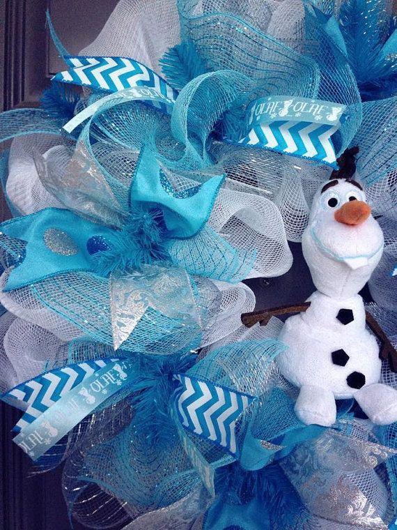 Olaf congelé Deco inspiré maille Couronne par BeautifulMesh sur Etsy
