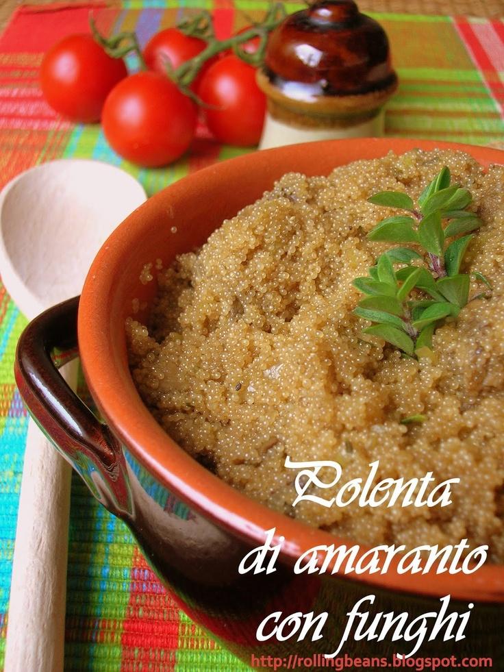 Polenta di amaranto e funghi  Amaranth Polenta with Mushrooms #ricette #amaranto #vegan ricette vegane vegan recipes