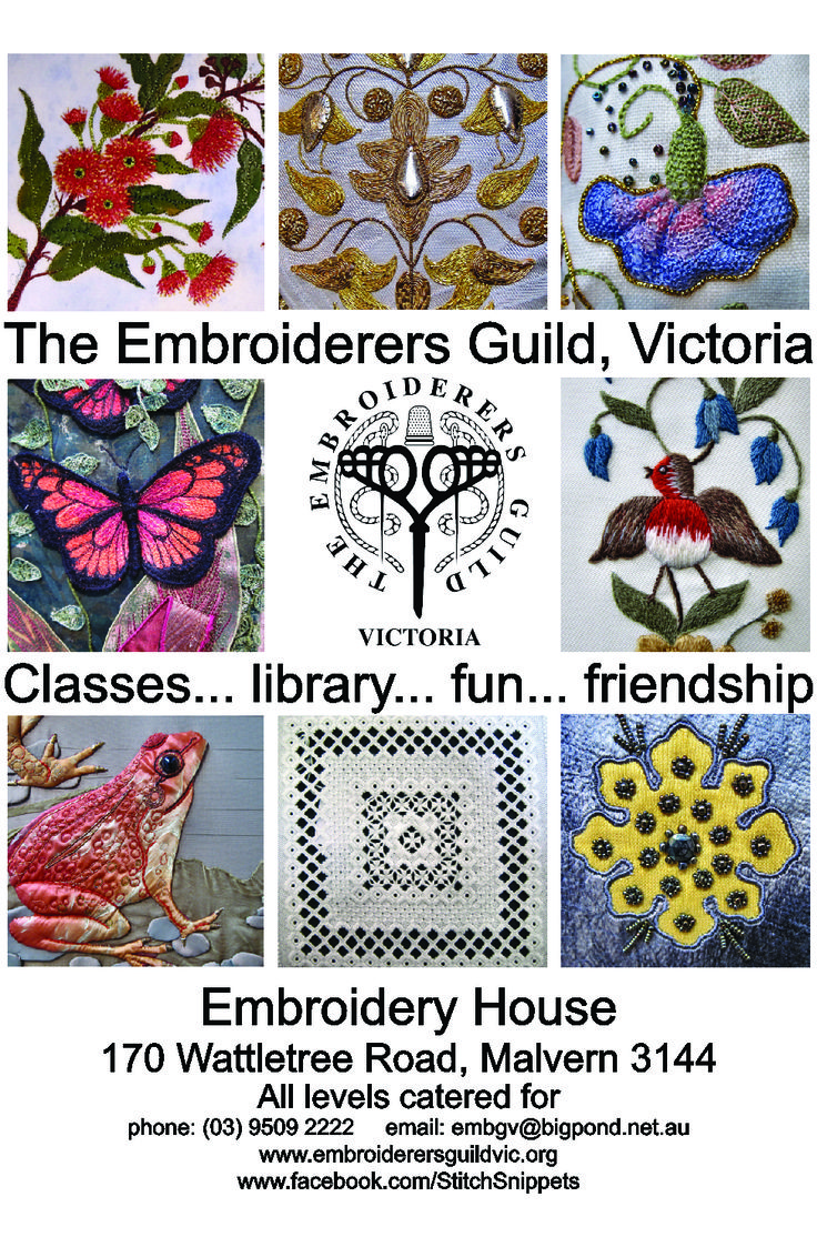 Come along and have some fun - contemporary and traditional embroiderers of all skill levels catered for! #embroidery #classes #guild