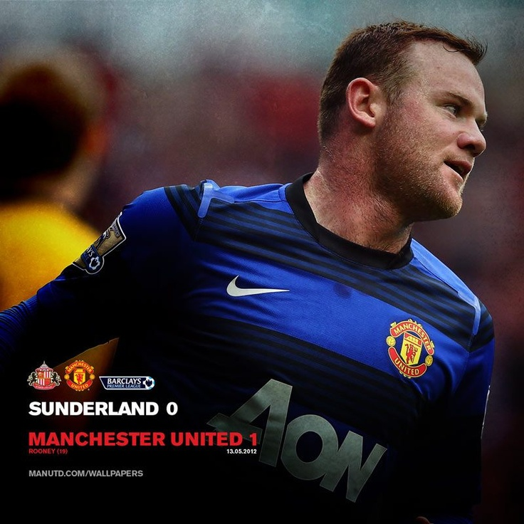 Rooney ensures United finish with a win. We'll keep the Red flag flying high, cos Man United will never die…