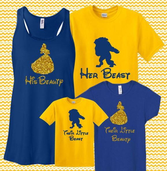 4 pack Family Glitter Family Matching Couples Set Beauty and Beast Bella Tank Shirt Disney World Disneyland Flowy Racerback Tank Bling by MickeysMagicalTees on Etsy https://www.etsy.com/listing/233089135/4-pack-family-glitter-family-matching
