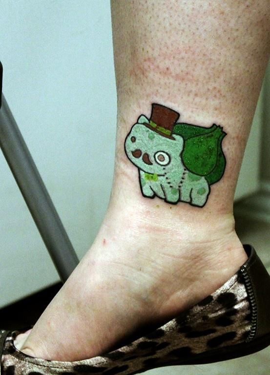 Pokemon Tattoo - Bulbasaur, Art by Pluffers @ Deviantart