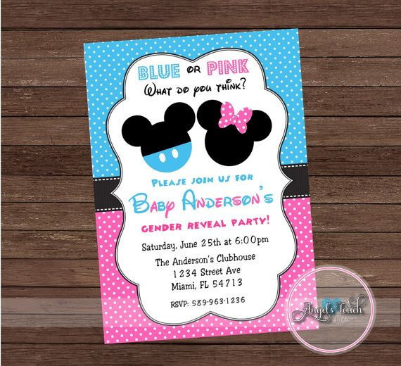 Mickey and Minnie Mouse Gender Reveal by AngelsTouchPartyShop
