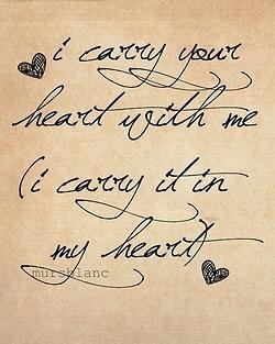 I carry your heart til death do us part