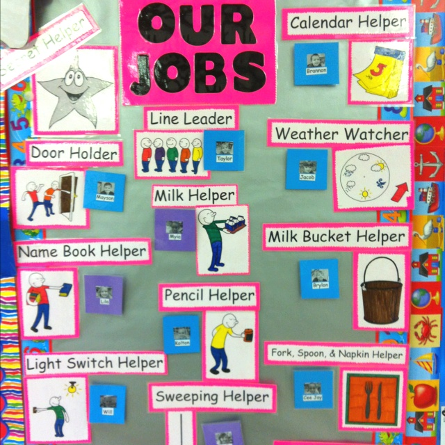 Classroom Helpers Ideas For Preschoolers ~ I am a preschool teacher and my students love to have