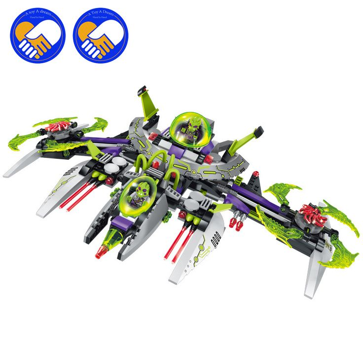 (A Toy A Dream) New Enlighten Interstellar Space Adventure Arrest Alien Commander Battleship 1617 Building Block Assemble  Toy #Affiliate