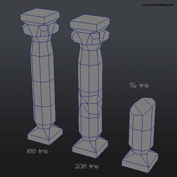 Modular Column 3D Model (No Texture)