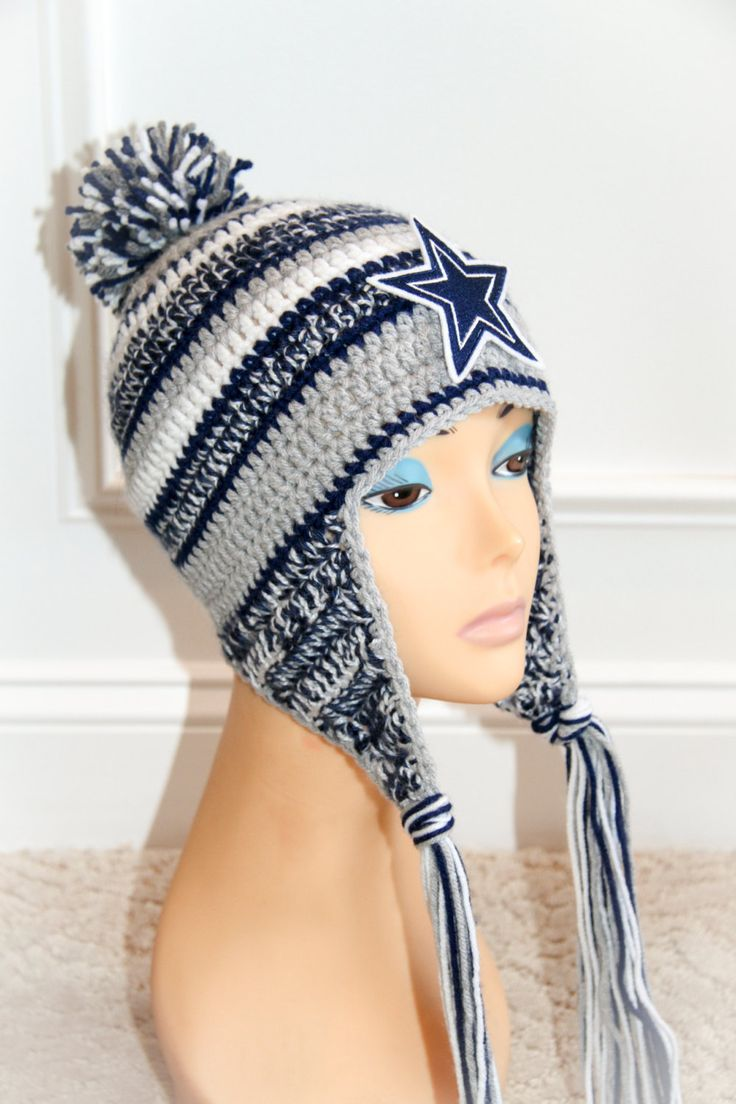 """Dallas Cowboys NFL official on the field New Era """"Inspired""""  crochet hat pattern."""