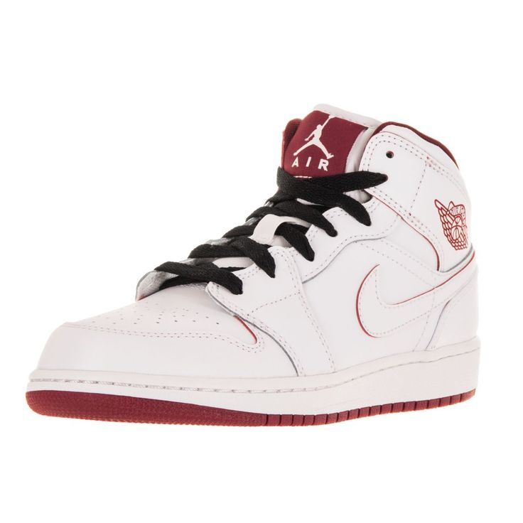 Nike Jordan Kid's Air Jordan 1 Mid Bg /Gym Red/Black Basketball Shoe