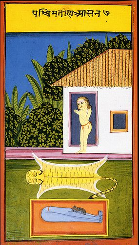 19th-century Indian miniature from a yoga codex