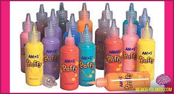 Puffy Paint - tons and tons of fabulous shirts and awesome jeans were made from this, iron-on patches, and jewels!  90s, 80s