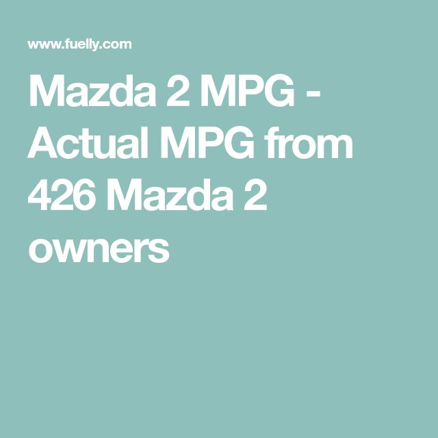 Mazda 2 MPG - Actual MPG from 426 Mazda 2 owners
