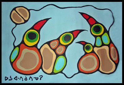 NORVAL MORRISSEAU BLOG: Birds of Norval Morrisseau (Part V)