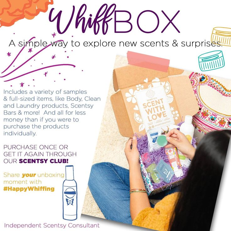 Whiff Box in 2020 Scentsy consultant ideas, Scentsy